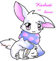 Kaelorii and snoow :3 by Uruky