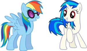 Rainbow Dash and Vinyl Scratch