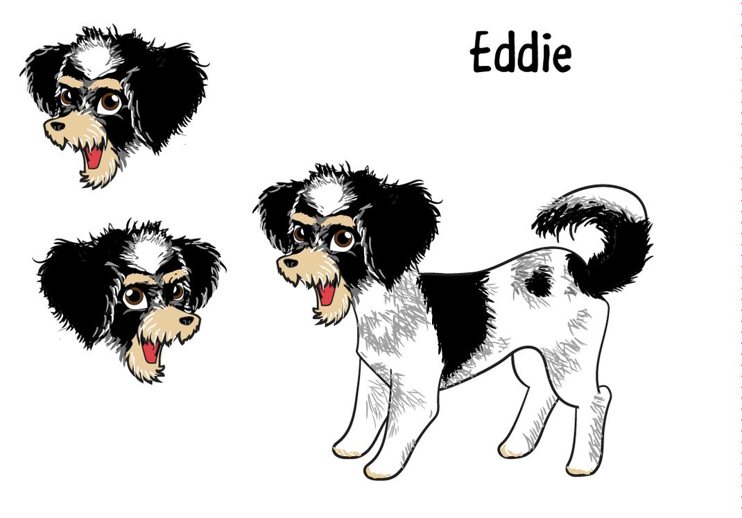 Eddie the dog digital illustration by jynolen