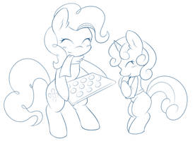 Pinkie and Filly (with cookies) by Ambris