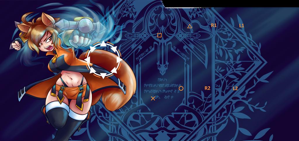 Makoto Fight-Stick Cover Art by Ambris