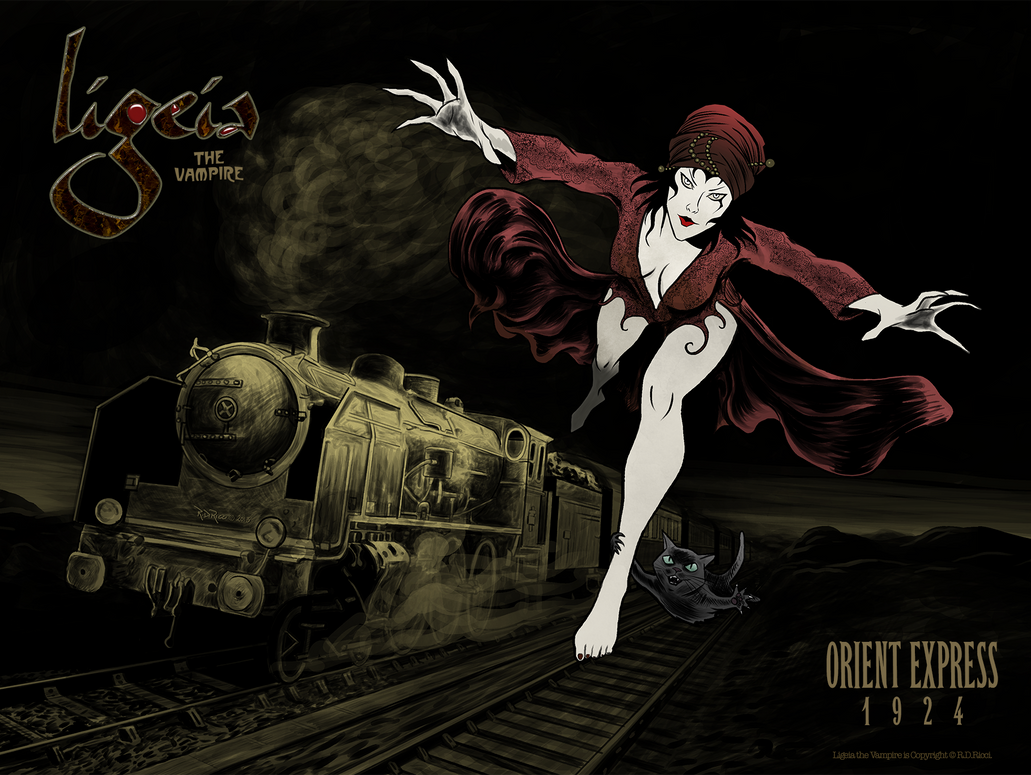 Ligeia the Vampire- Orient Express by rdricci