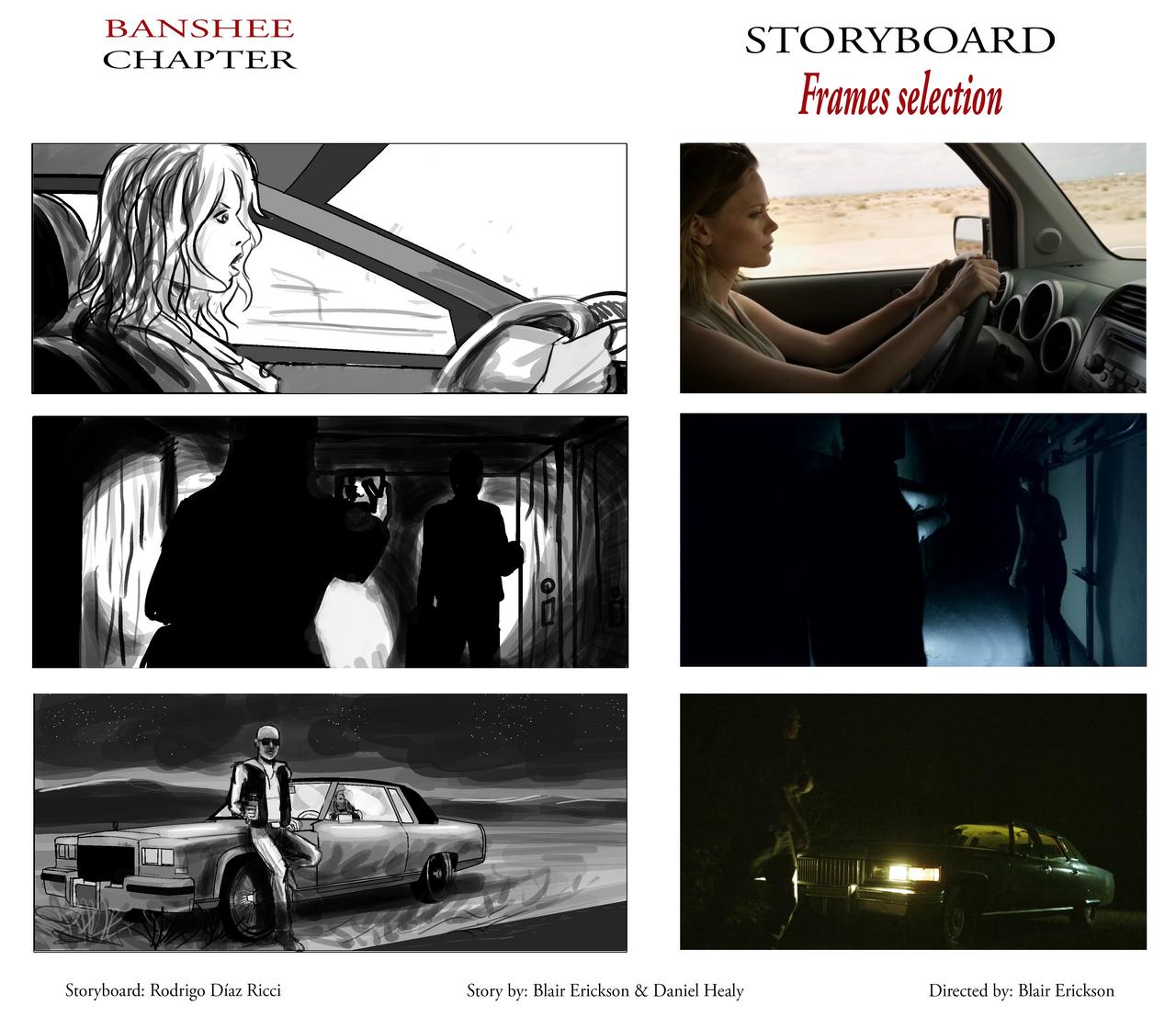 Banshee Chapter - Storyboard sample FRAMES by rdricci