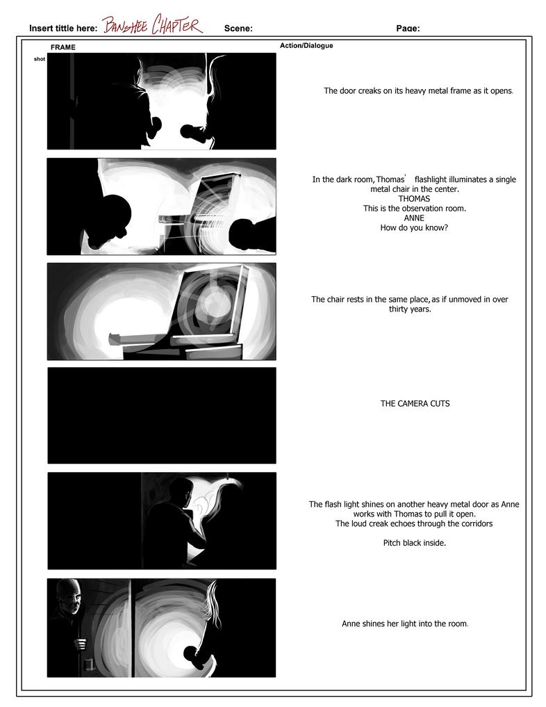 Banshee Chapter - Storyboard sample- Random page by rdricci