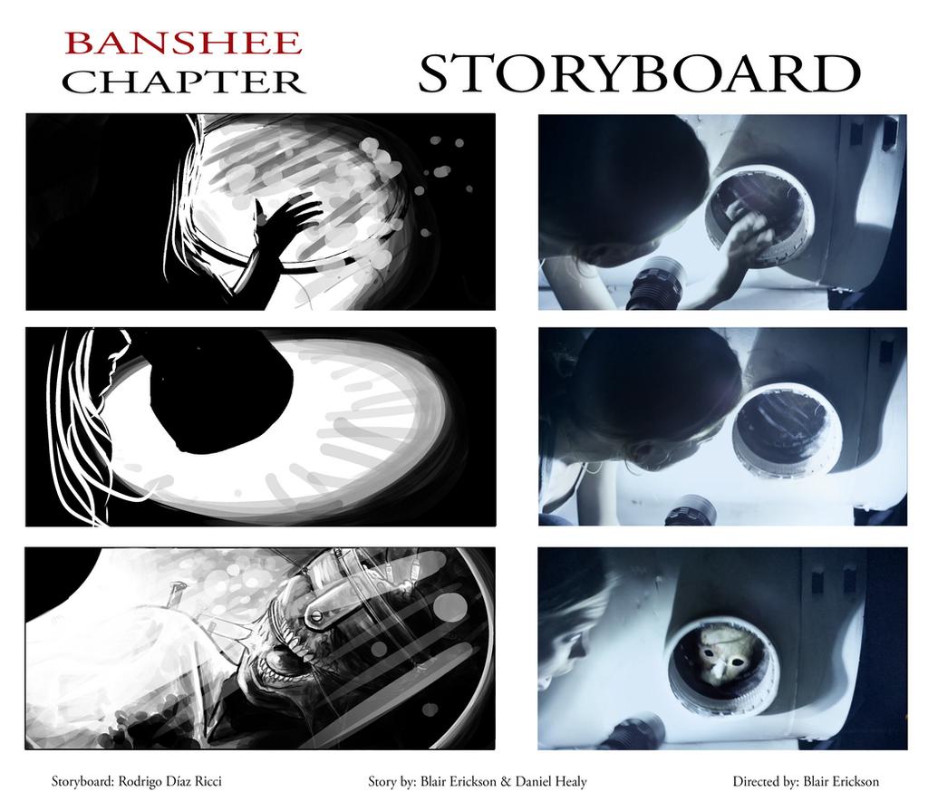 Banshee Chapter - Storyboard -sample Frames 1 by rdricci