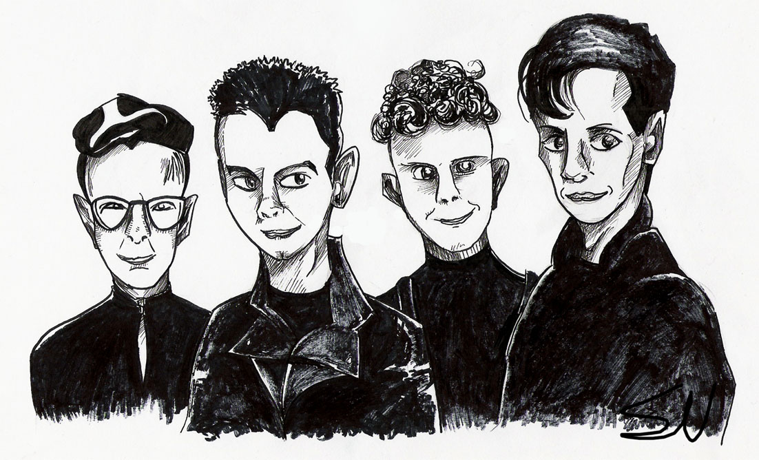 Art-trade: Depeche Mode by SV-Spinny