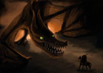 Dragon Grin by brindlegreyhound