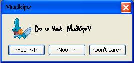 Do u liek Mudkips? by younnie7