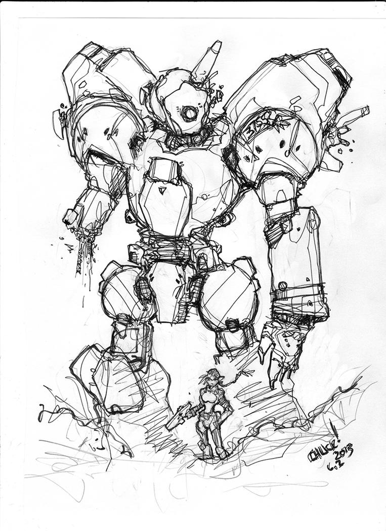 Daily Sketch 09022015 by Warhound-CMP