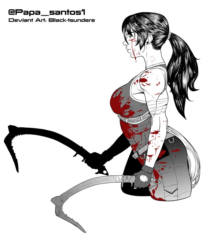 Lara Croft by Black-Tsundere