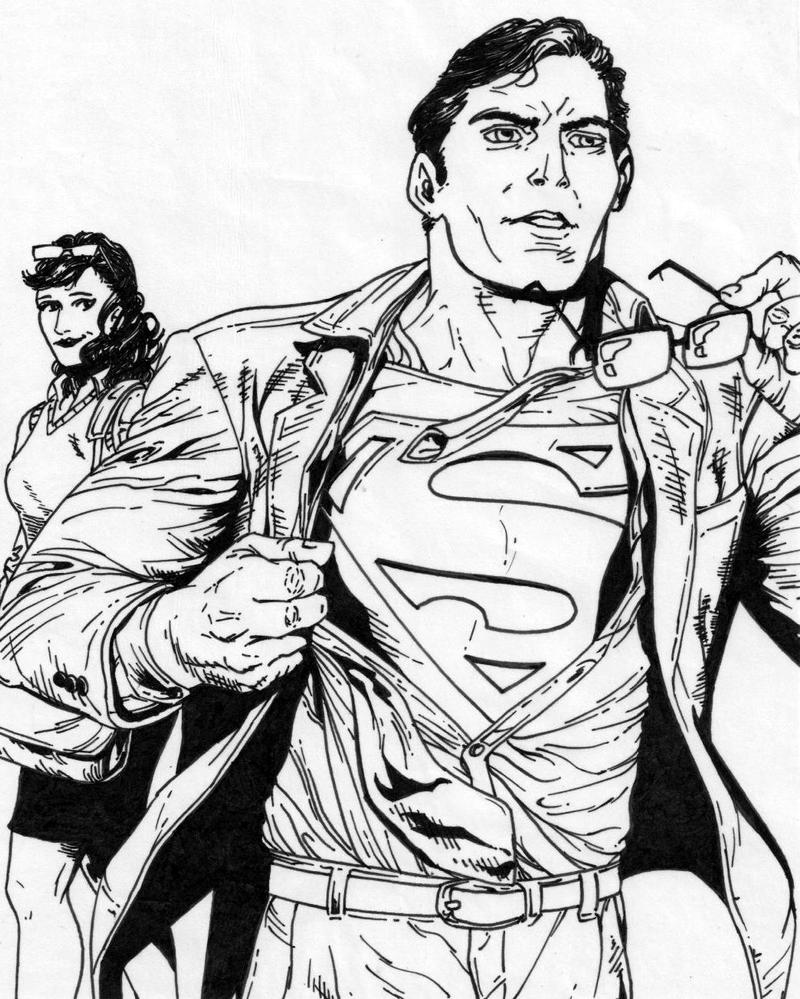 This is a graphic of Lucrative Clark Kent Drawing