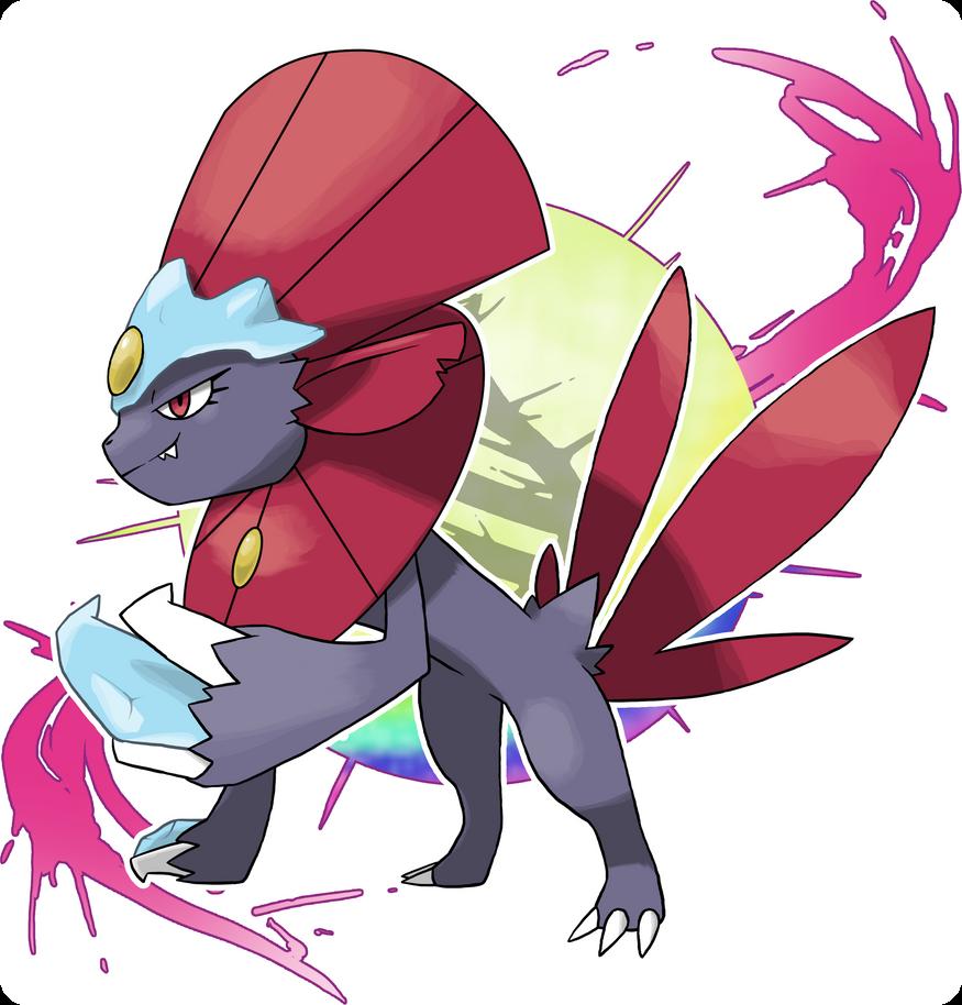 Commission: Mega Weavile [for Pokemon Astral] by Whisperchime