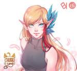 [Commission] Blond elf [Churro-sama]