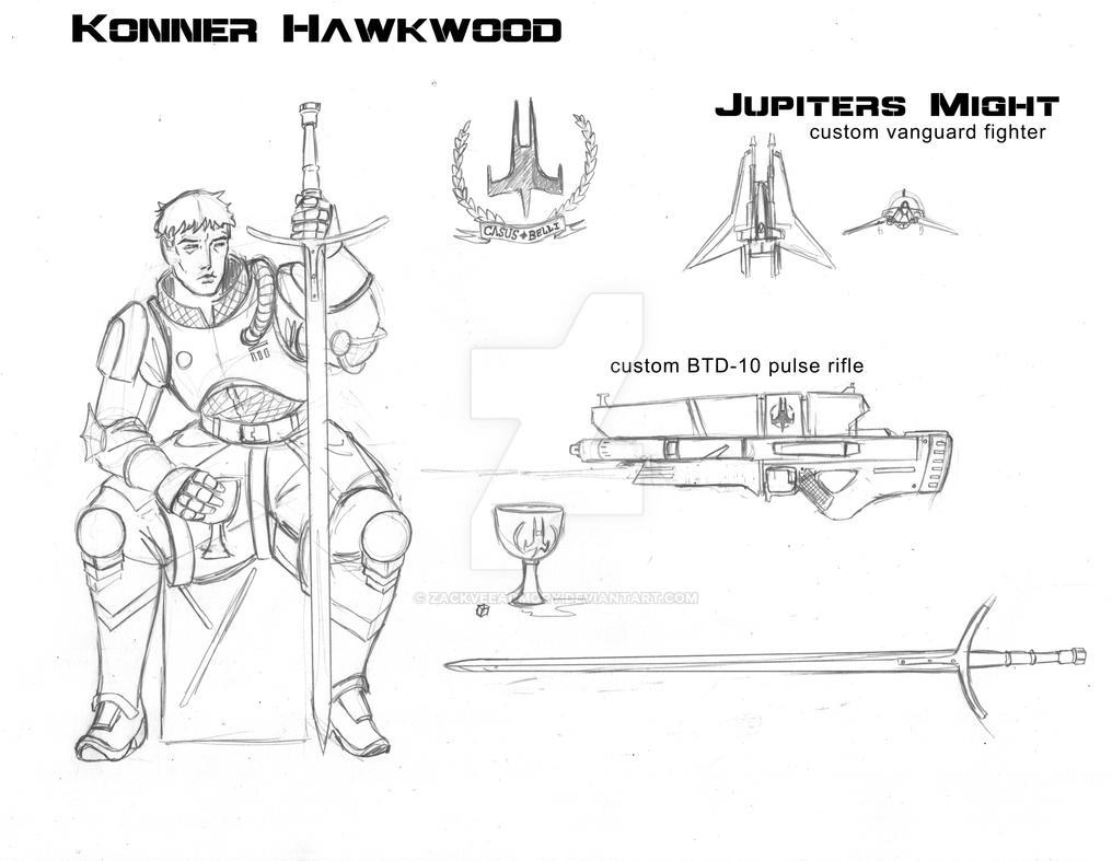 Konner Hawkwood Character sheet by zackveearmory