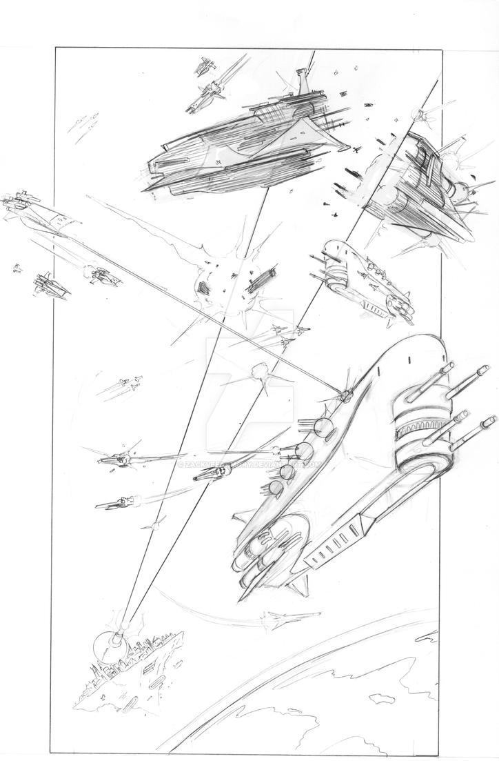 Starfortress Space Battle Pencils by zackveearmory