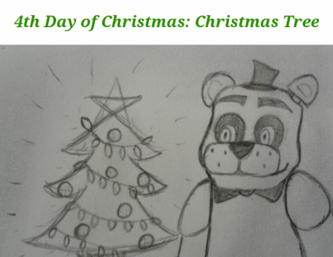 FNAF 12 Days of Christmas: Day 4 by InvaderAllieNinja