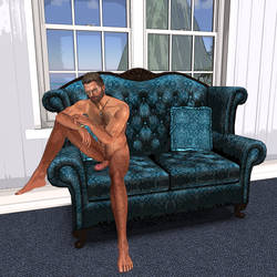 Eric Nude on Couch 002a by Bast-Productions