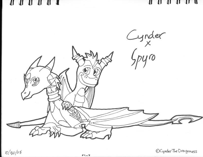 spyro and cynder coloring pages - photo#32