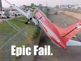 Plane Epic Fail by Atekal
