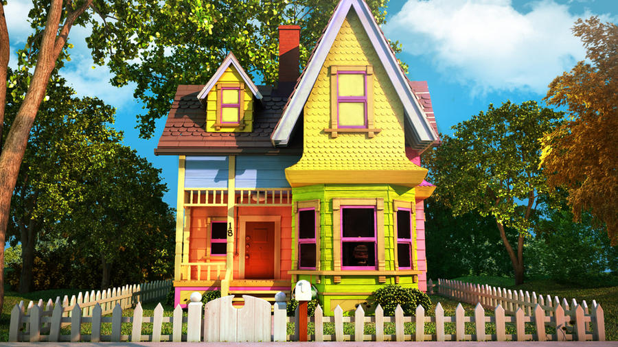 Pixar Up House By Flawless1979 On Deviantart