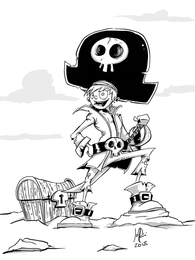 Skull Pirate by JordiHP