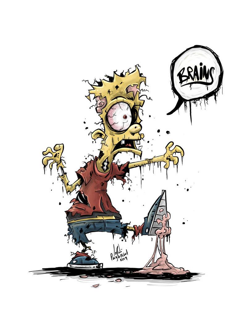 Zombie Bart Simpson by JordiHP