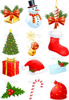 Christmas Symbols by FreeIconsFinder