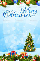 Merry Christmas Greeting Card by FreeIconsFinder