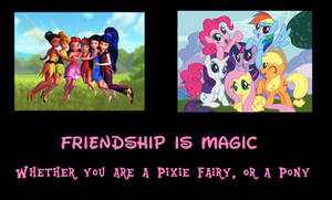 Disney Fairies-My Little Pony Motivational Poster by MetroXLR