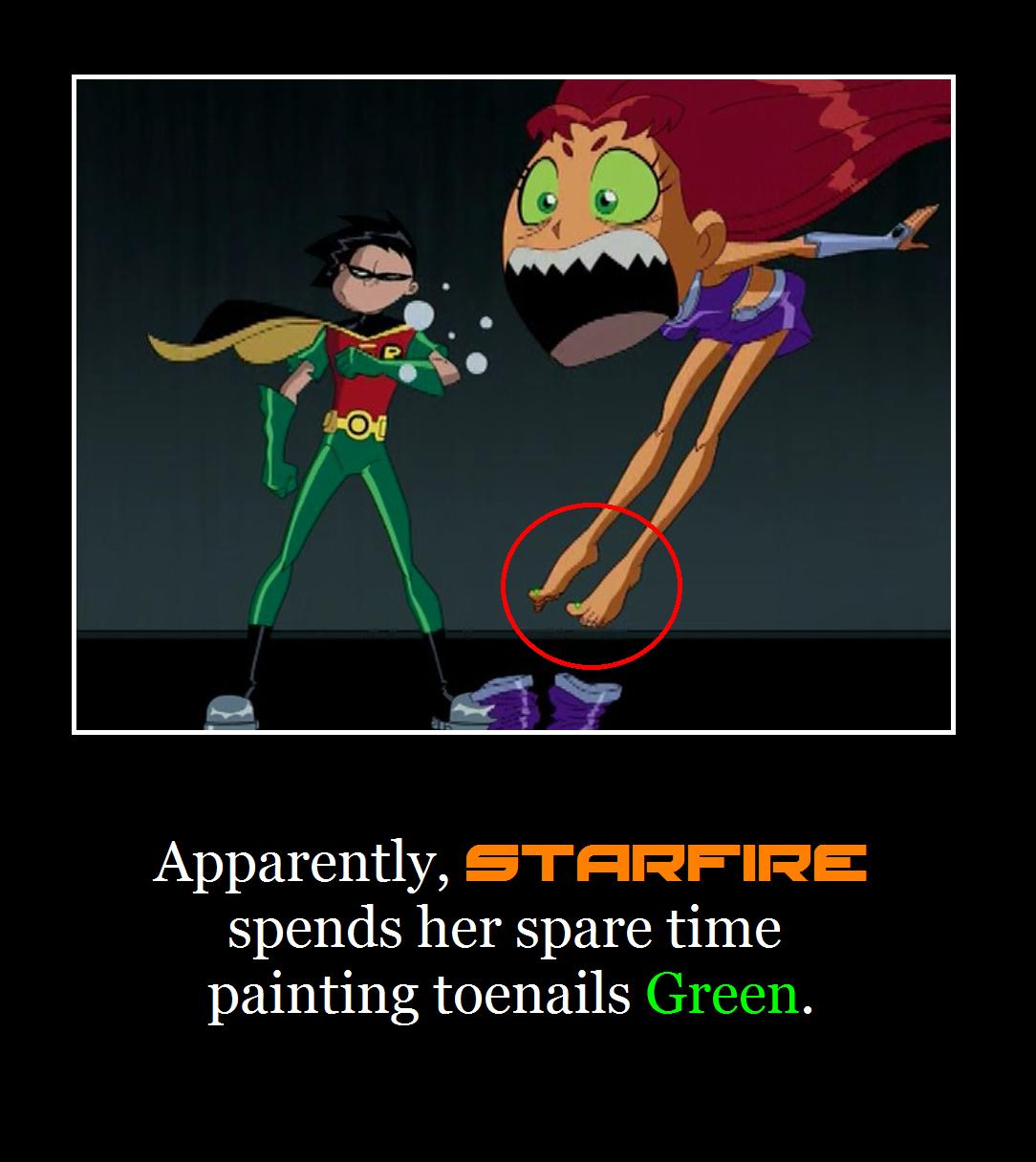 Starfire Humor Motivational by MetroXLR99 on DeviantArt