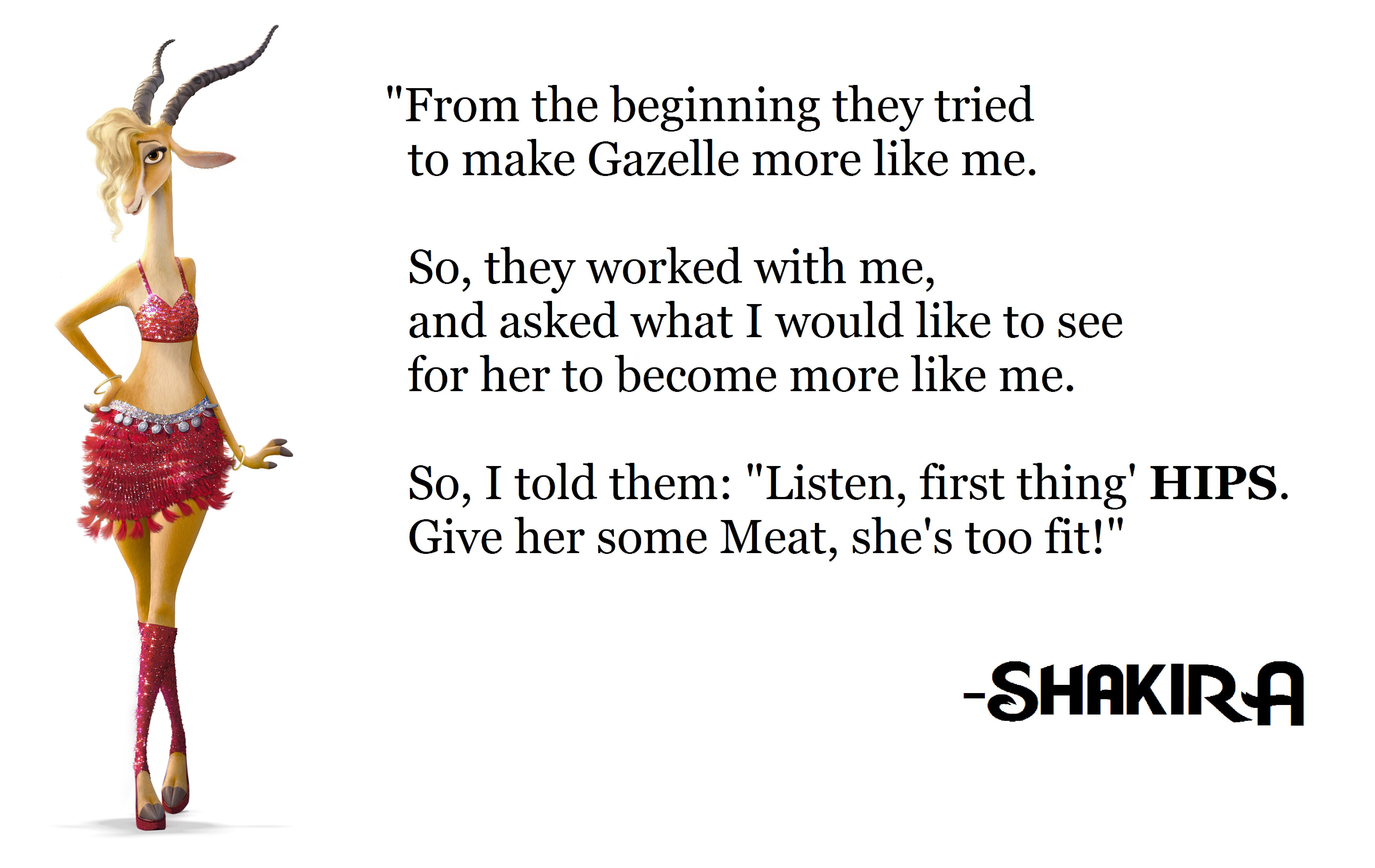 Shakira S Contribition To Gazelle By Metroxlr On Deviantart
