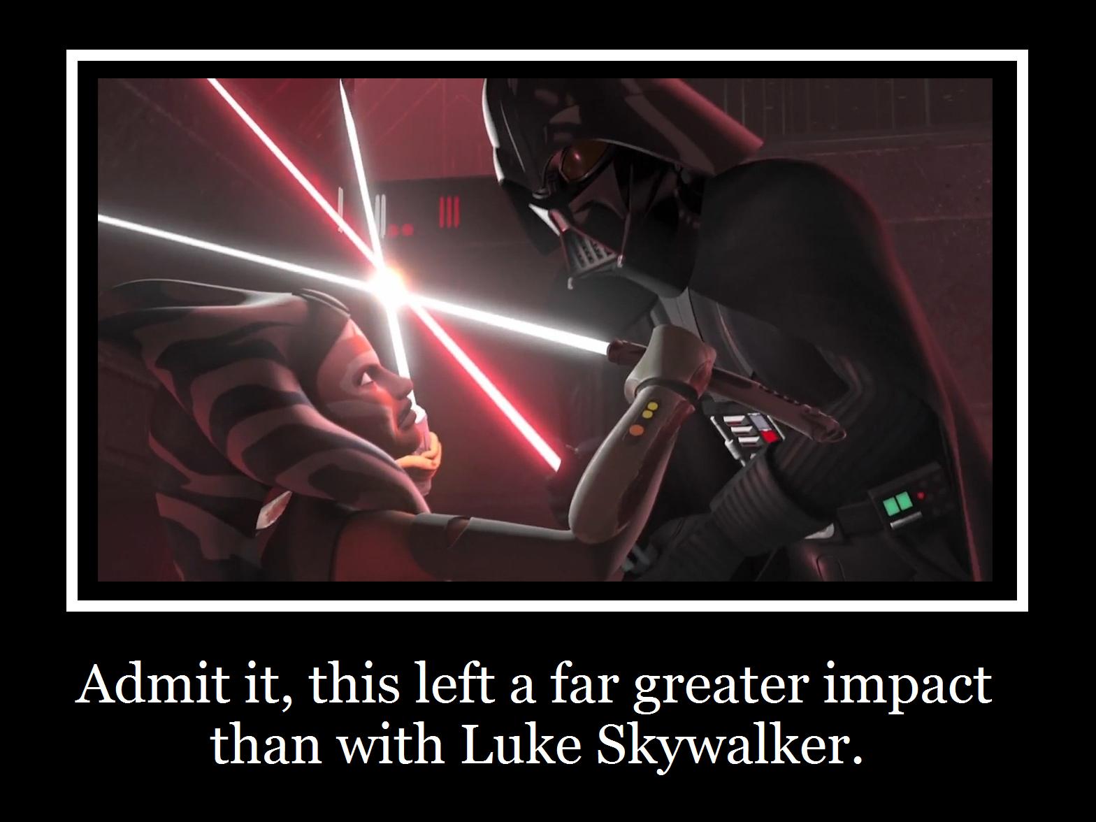 Vader Vs  Ahsoka Motivational by MetroXLR on DeviantArt
