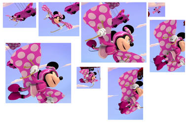 Minnie Mouse fly like the bird and butterfly by tylerleejewell