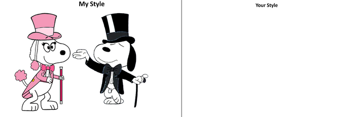 My Style VS Your Style: Tuxedo Snoopy and Fifi