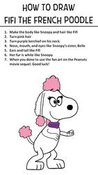 How to Draw Fifi the French Poodle