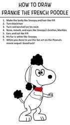How to Draw Frankie the French Poodle