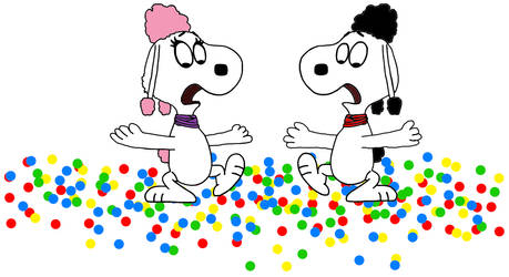 Frankie and Fifi slipped the gumballs