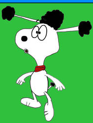 Frankie shocked at Snoopy (2)