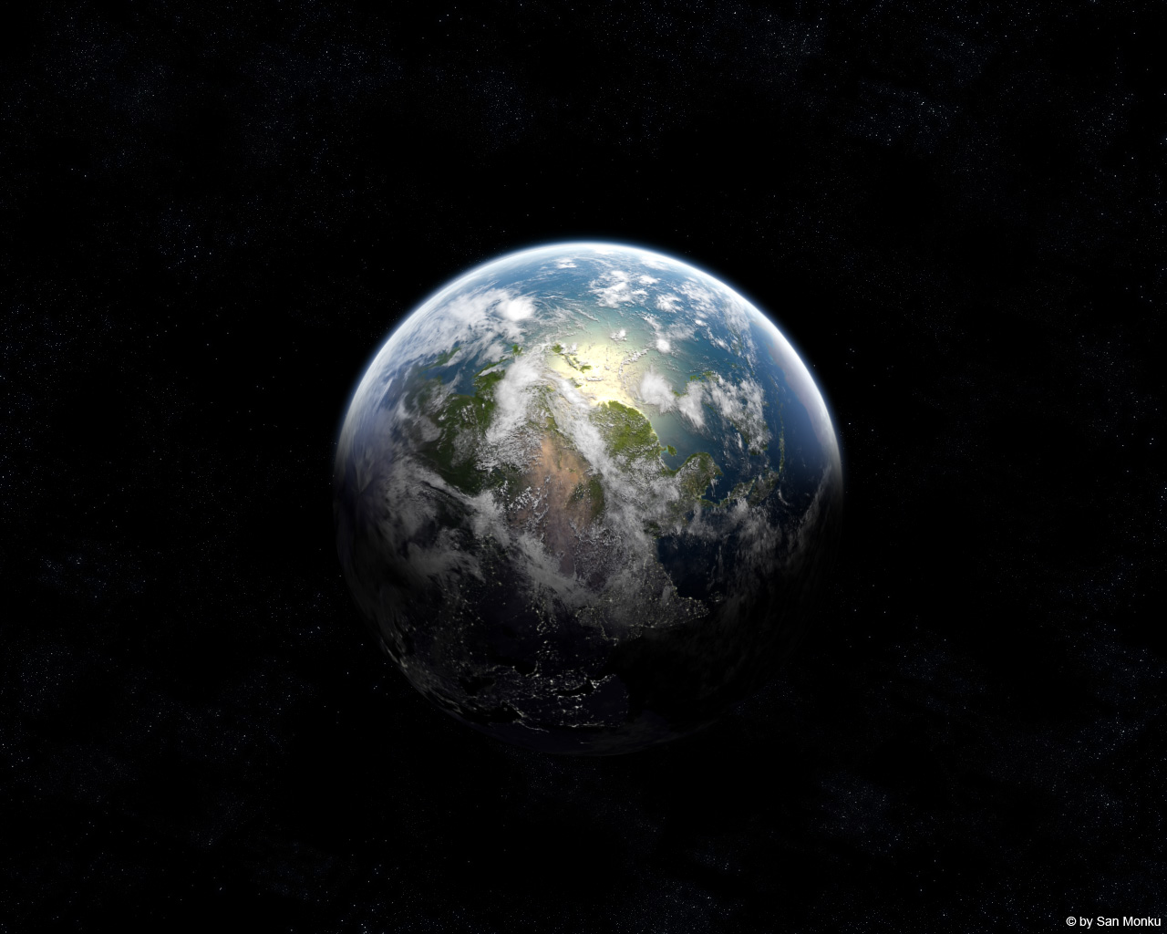 Planet Earth (this isn't stock !) by sanmonku