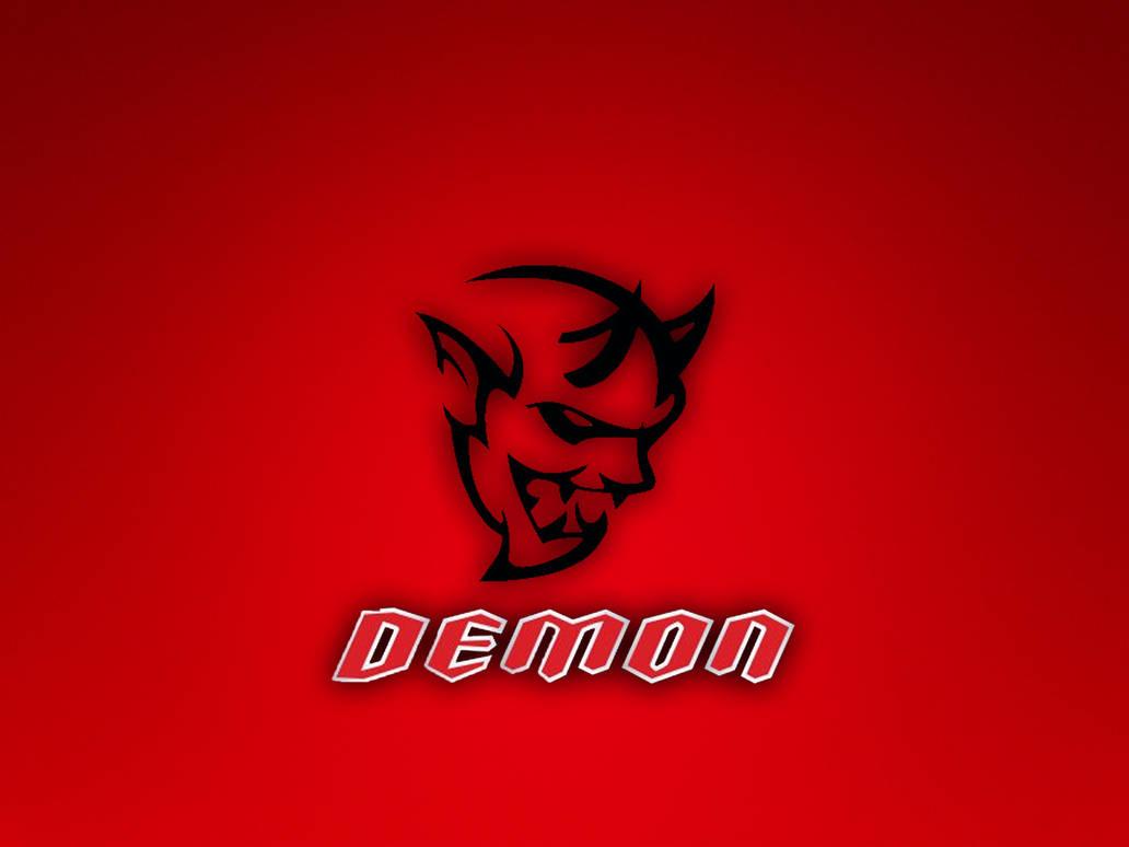 Dodge Challenger Demon Logo Wallpaper by theTINYchicken