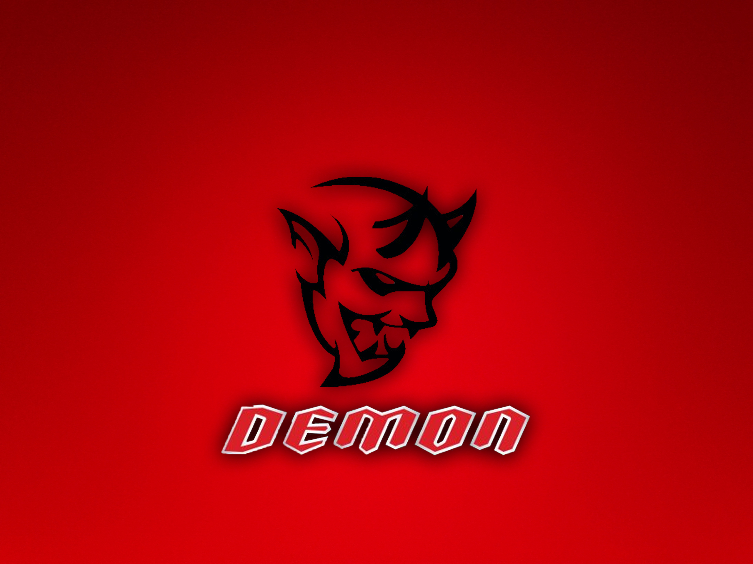 Dodge Challenger Demon Logo Wallpaper by theTINYchicken on