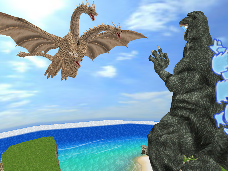 King Ghidorah appears by Gorosaurus65