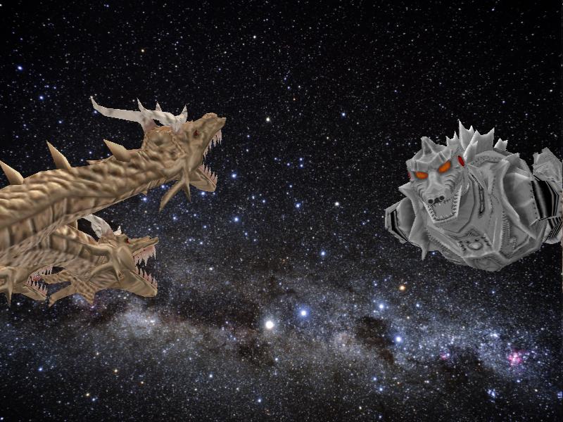 Space battle Simians vs Xiliens by Gorosaurus65