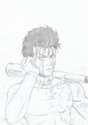 Metal Bat sketch - One punch man by Hisagi-Taicho