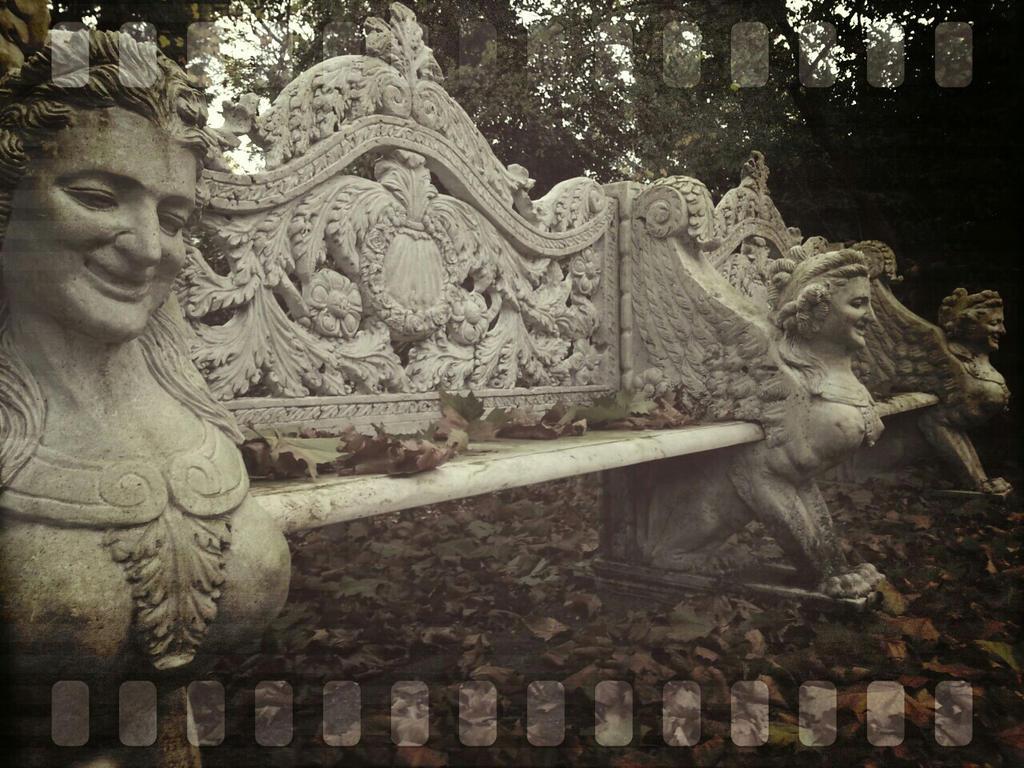 Bench on a graveyard by Radijs-Dalfo