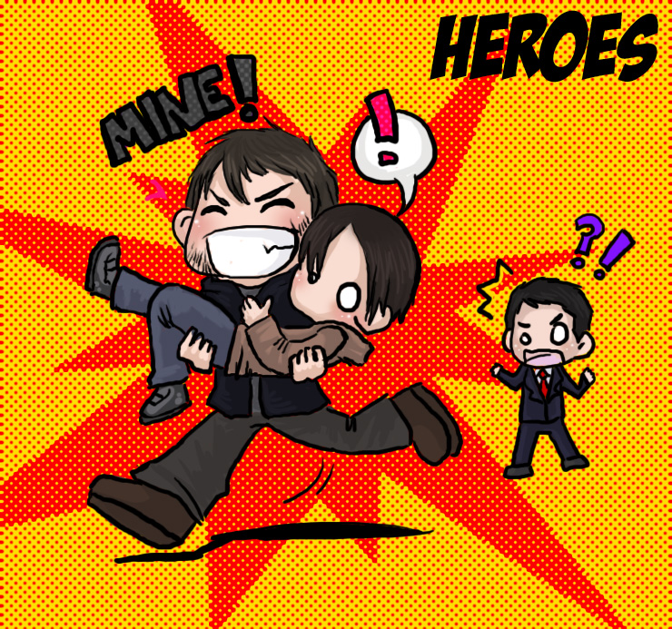 Heroes...Peter kidnaped by Heroes-Couples-Club