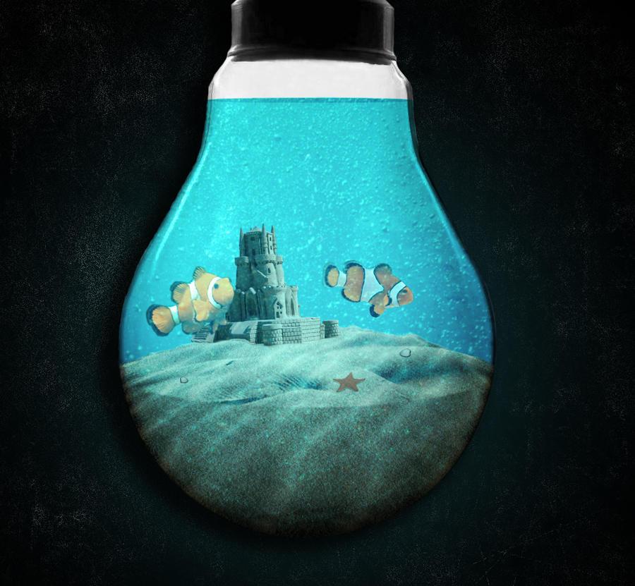 light bulb fish tank by bioshocker uk on deviantart. Black Bedroom Furniture Sets. Home Design Ideas
