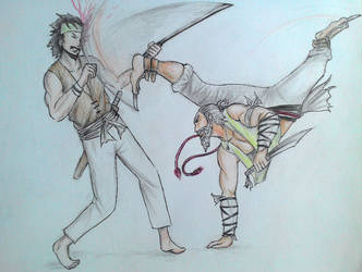 Capoeira Warrior by ZandaFr