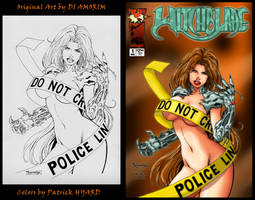 Amorim's WitchBlade Cover by HK666