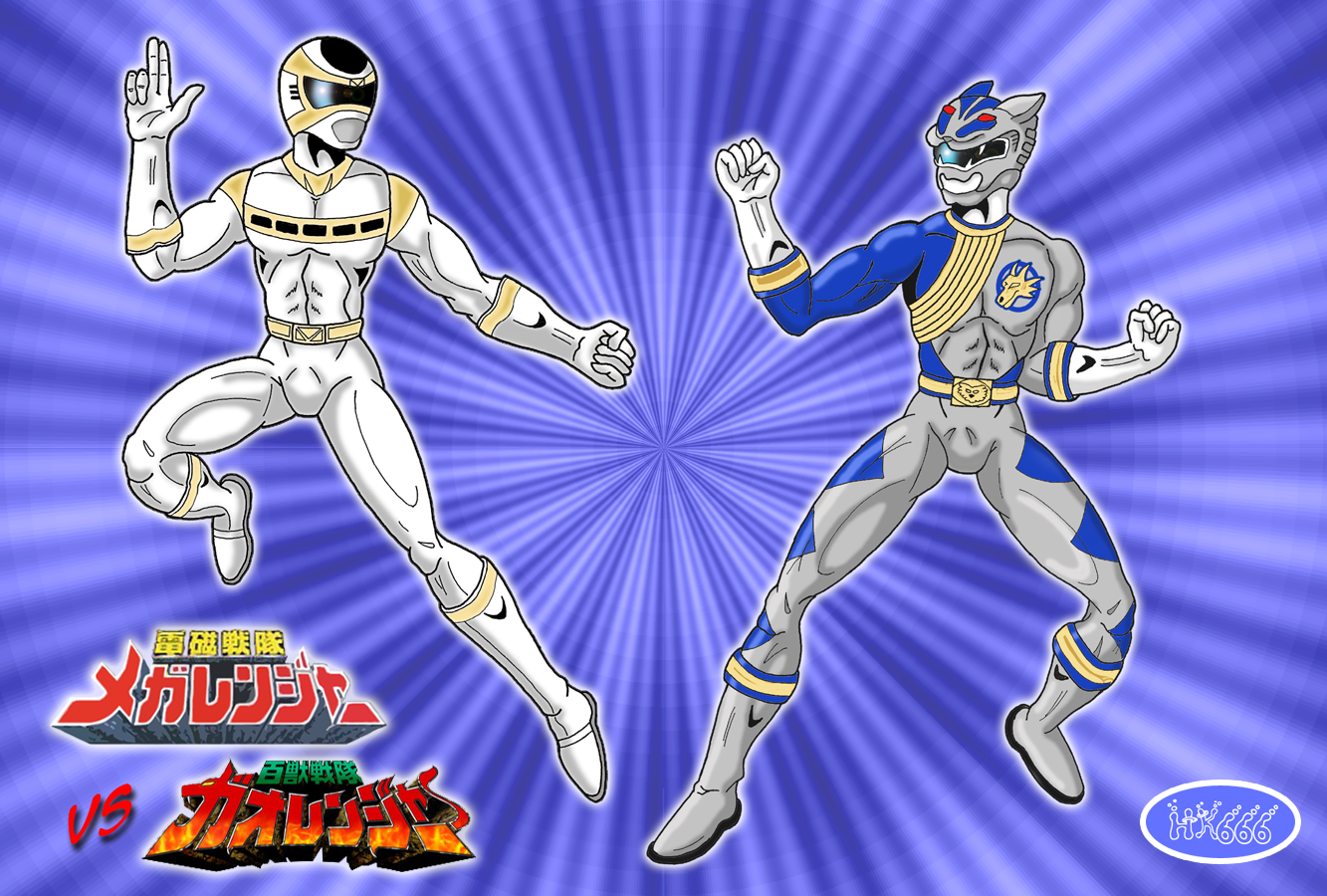 Battle of the Silver Rangers by HK666